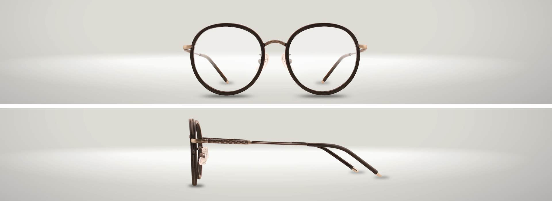 The 126334-C ROUND EYEGLASSES: