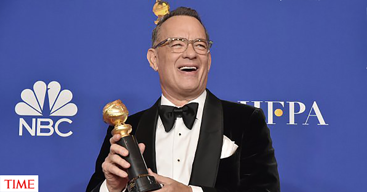 3) Tom Hanks - The Full Rimmed Translucent Acetates: