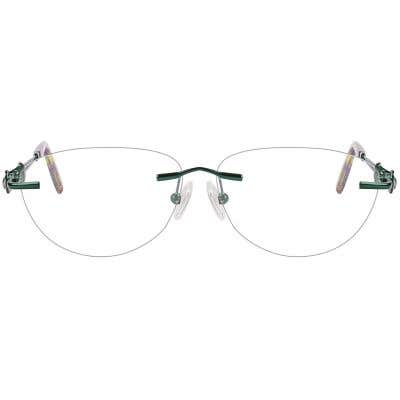 Rimless Cat Eye Eyeglasses 123941-c