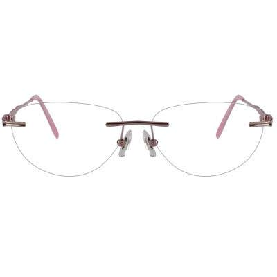 Rimless Cat Eye Eyeglasses 123963-c