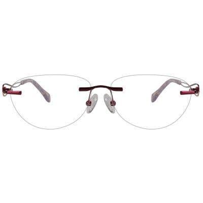 Rimless Cat Eye Eyeglasses 123991-c