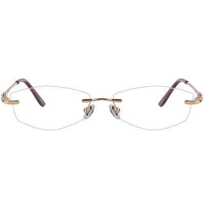 Rimless Eyeglasses 124091-c