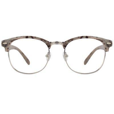 Browline Rectangle Eyeglasses 124146