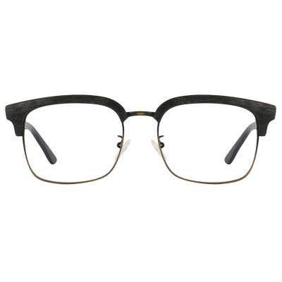 Browline Wood Eyeglasses 125021-c
