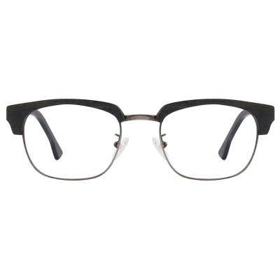 Browline Wood Eyeglasses 125025-c