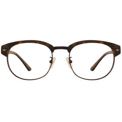 G4U 12876 Browline Wood Eyeglasses 127401-c
