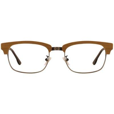 G4U 12878 Browline Wood Eyeglasses 127420-c