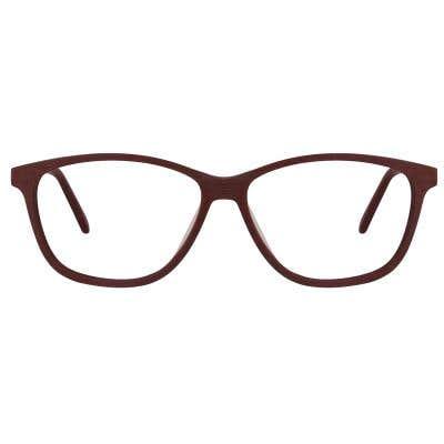 Wood Rectangle Eyeglasses 128040-c