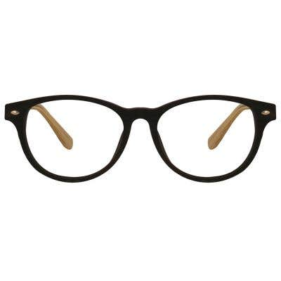 Wood Rectangle Eyeglasses 128816-c