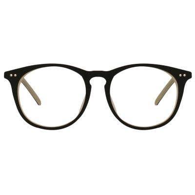 Wood Round Eyeglasses 128820-c