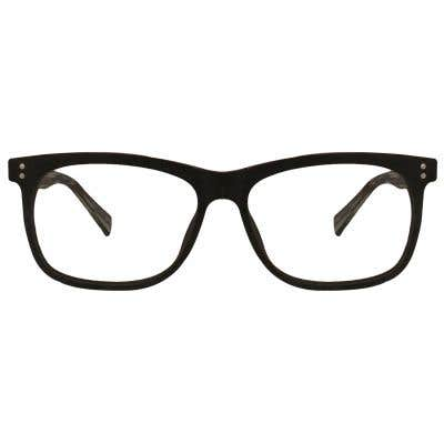 Wood Rectangle Eyeglasses 128828-c