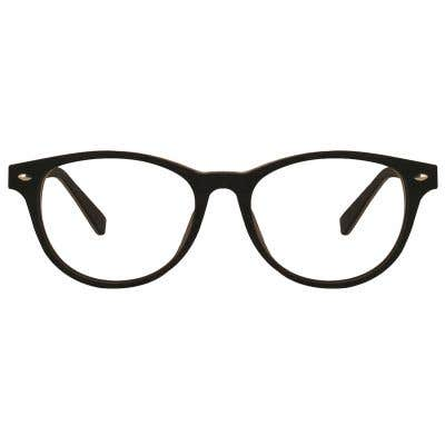Wood Round Eyeglasses 128844-c