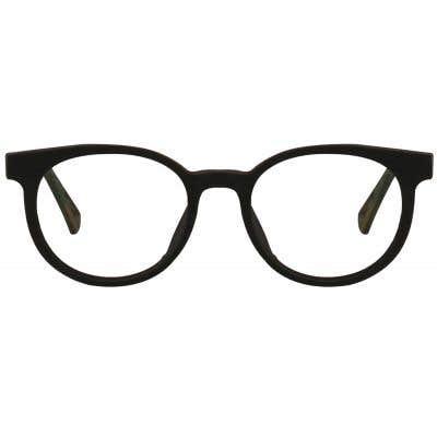 Wood Round Eyeglasses 128855-c