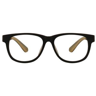 Wood Rectangle Eyeglasses 128878-c