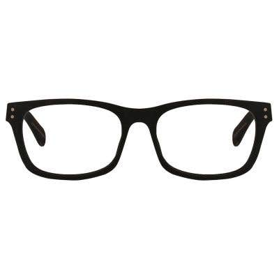 Wood Rectangle Eyeglasses 128892-c
