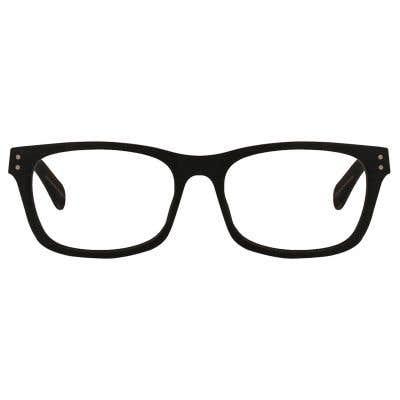 Wood Rectangle Eyeglasses 128892-c