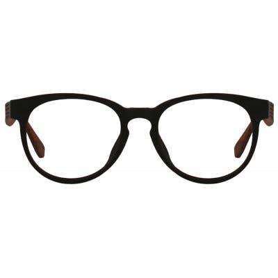 Wood Round Eyeglasses 128896-c