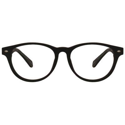 Wood Round Eyeglasses 128900