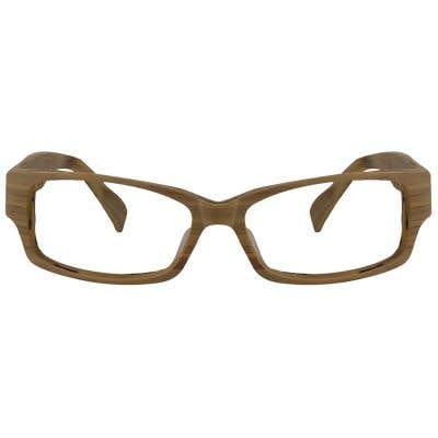 Wood Rectangle Eyeglasses 129050
