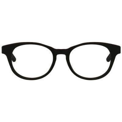 Wood Oval Eyeglasses 129057