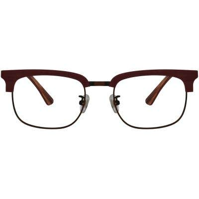 Wood Browline Eyeglasses 129419