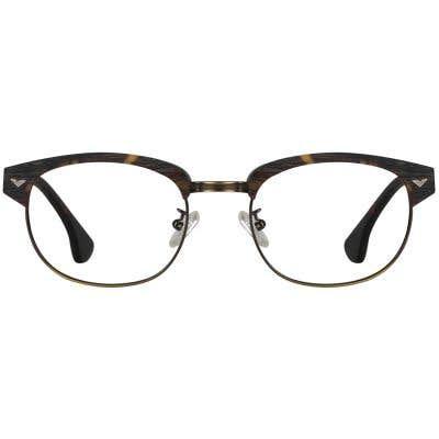 Wood Browline Eyeglasses 130349-c