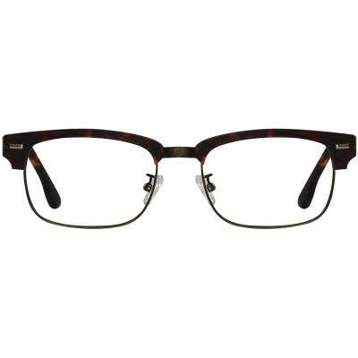 Wood Browline Eyeglasses 130364-c
