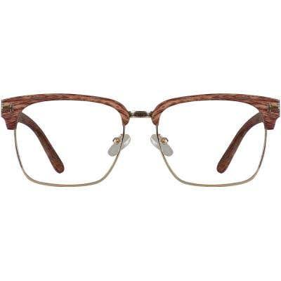 Wood Browline Eyeglasses 138025