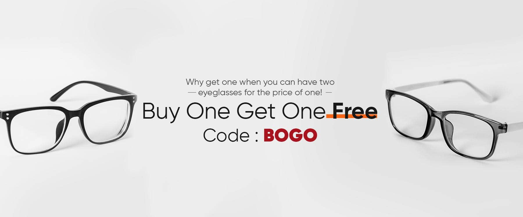 BUY 1 GET 1 FREE CODE: BOGO