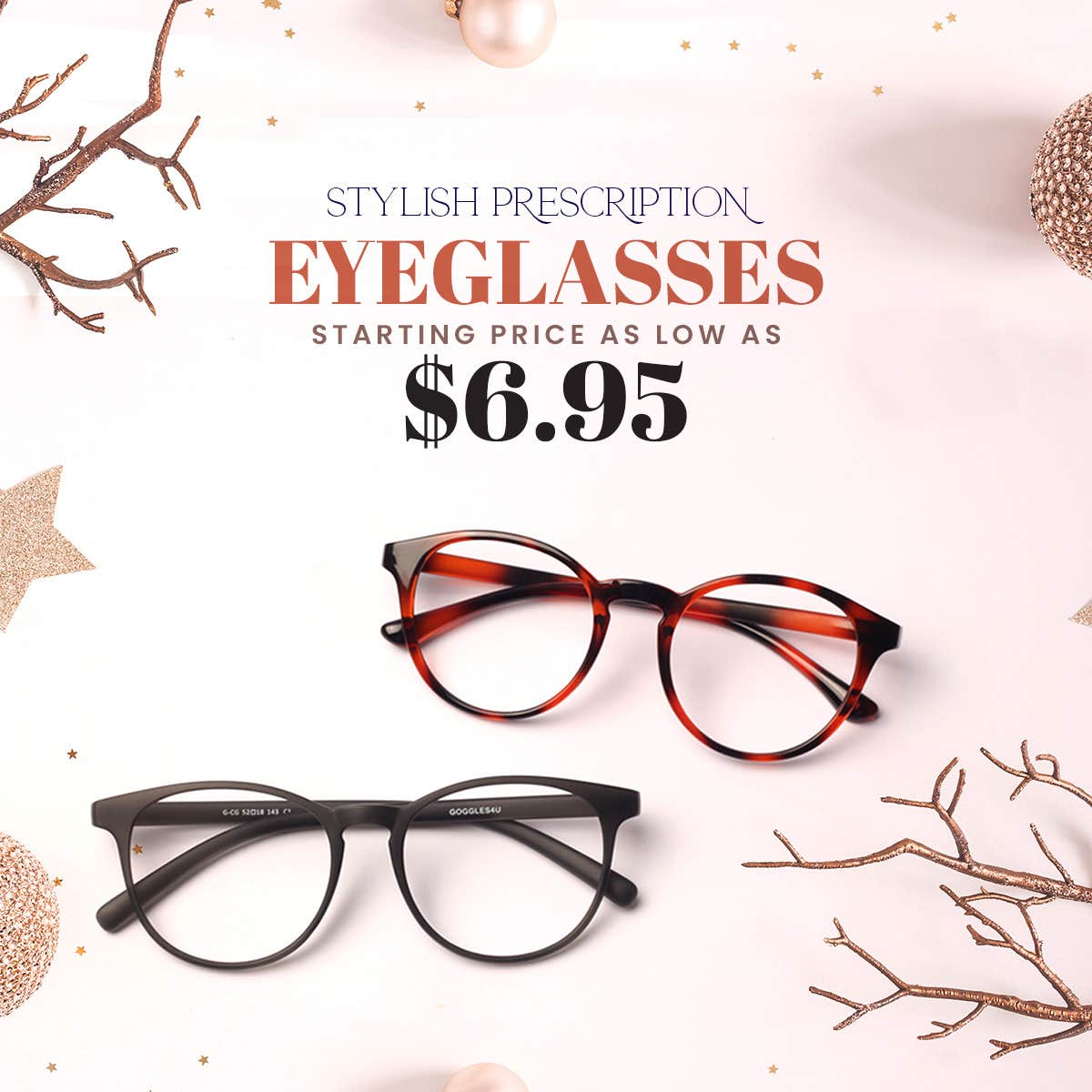 Prescription Eyeglasses Starting From $6.95