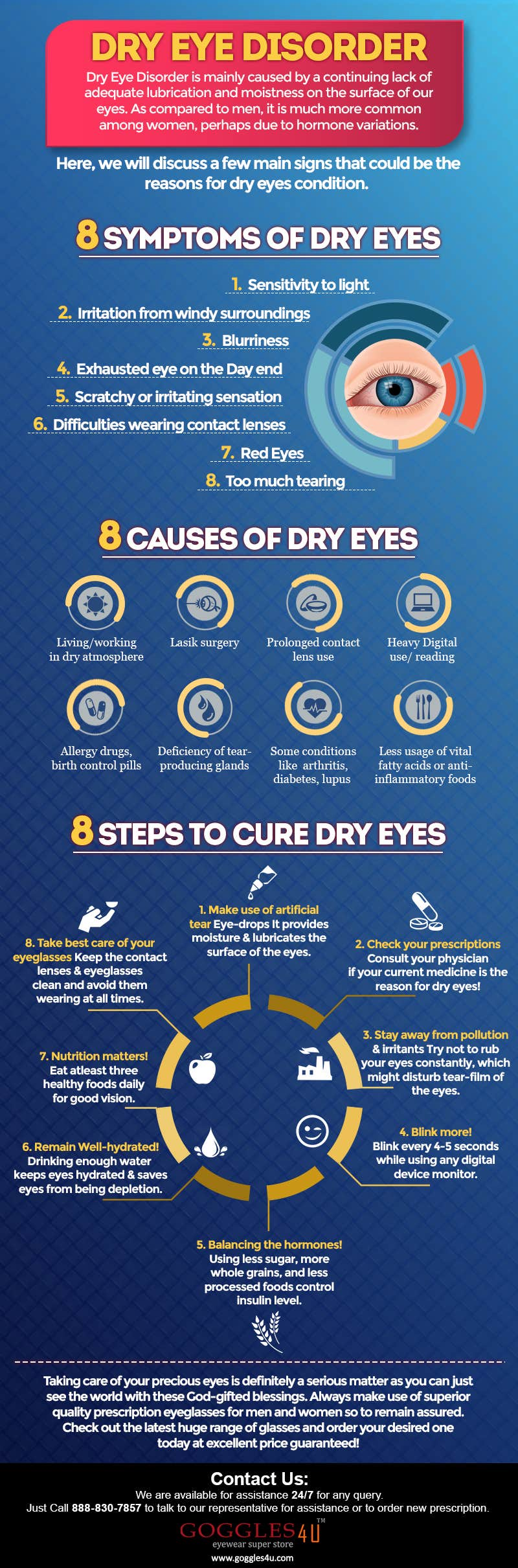 8 symptoms of dry eyes