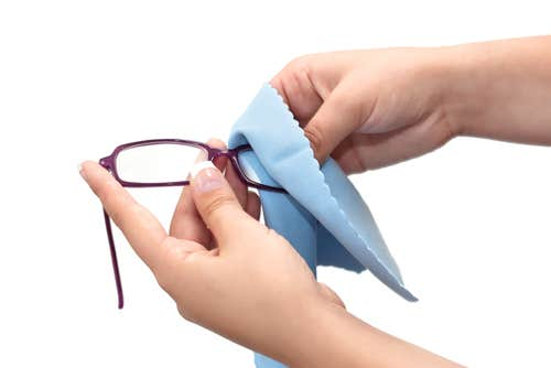Cleaning Eyeglasses