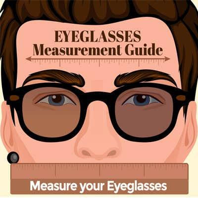 Infographic on Eyeglasses Measurements