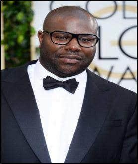 Steve McQueen wearing glasses at Golden Globe Awards