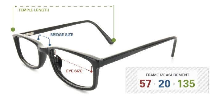 What Do Eyeglass Frame Measurements Mean : Buy Prescription Eyeglasses Online - Goggles4u.com