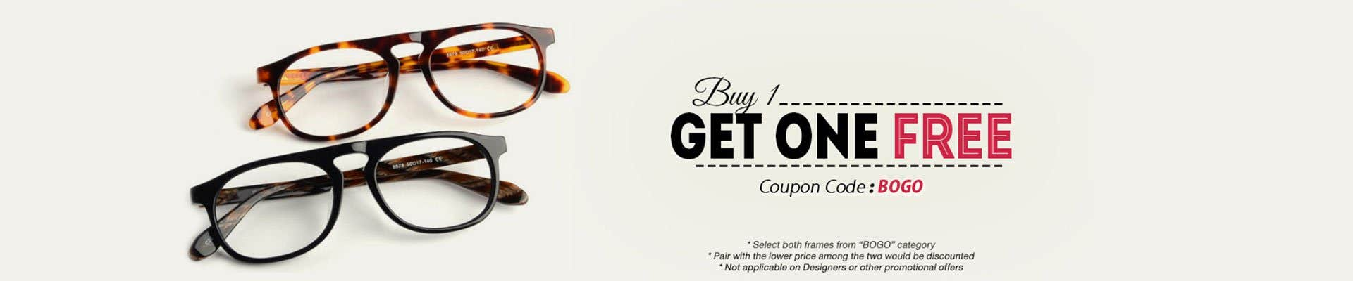 Buy one get one free eyeglasses