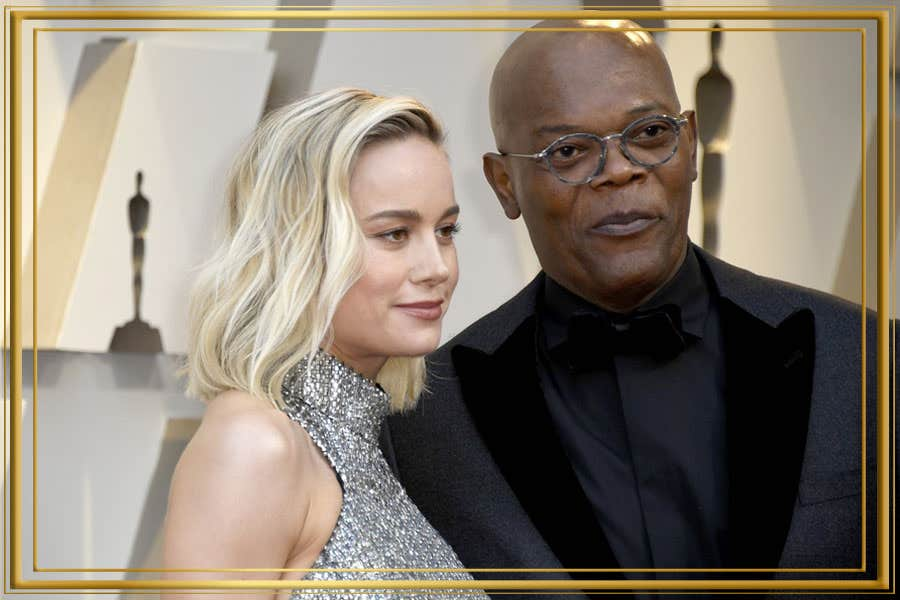 Samuel A Jackson – Wears Metallic Silver Rounds at Oscars 2019