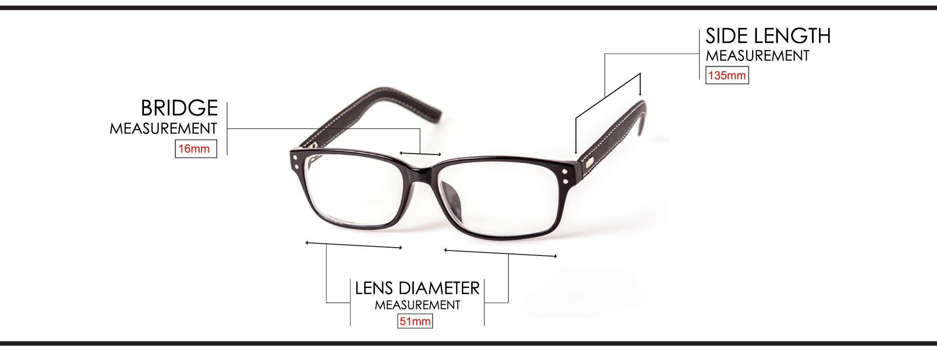 8569ff50678 ... so you get what your eyes need. Precise Frame Measurement