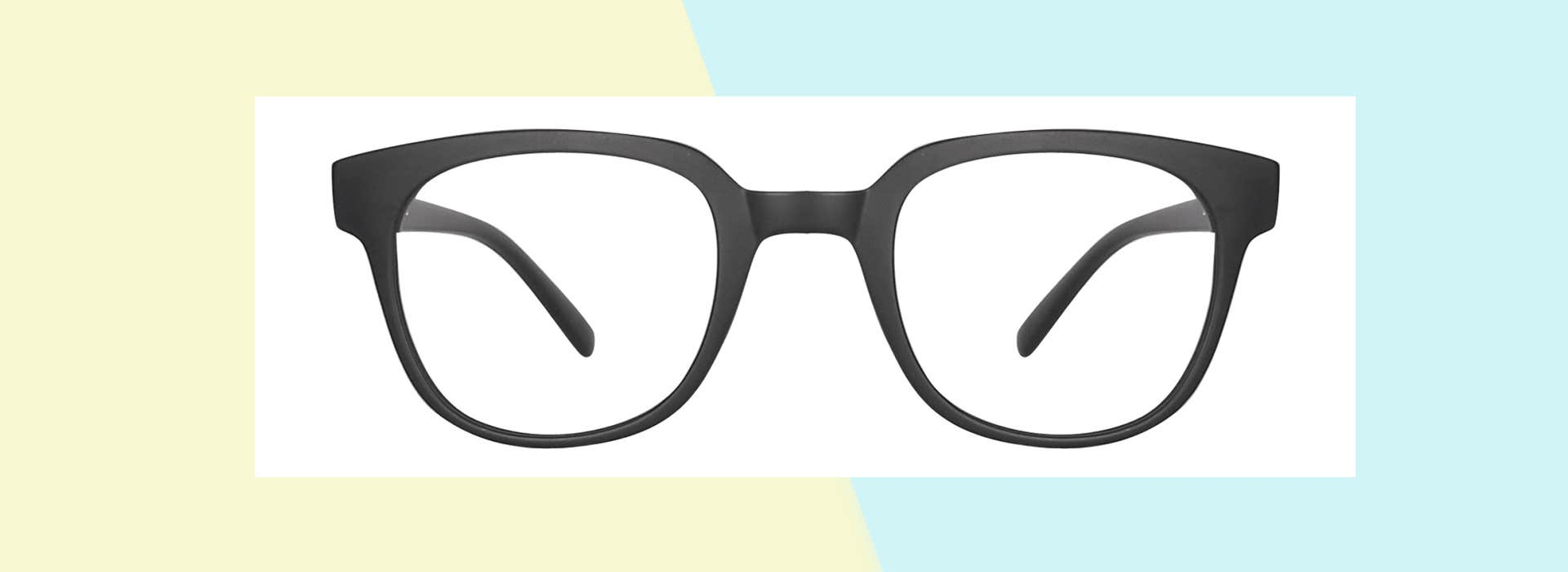 The Matte-Black Eyeglasses