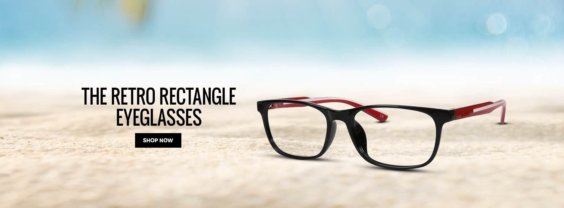 The Retro Rectangle Eyeglasses