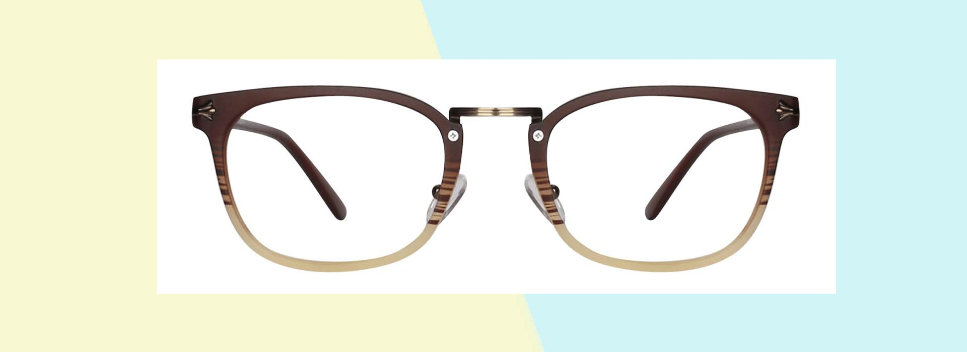 The Brown-Cream Eyeglasses