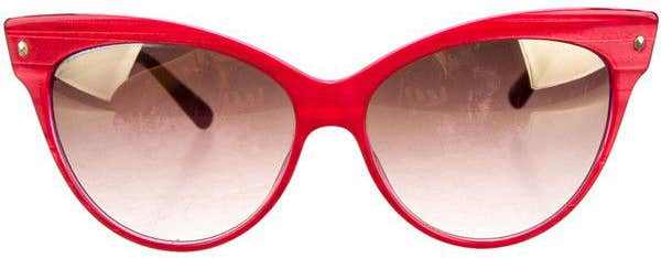 Red Cat Eye Eyeglasses