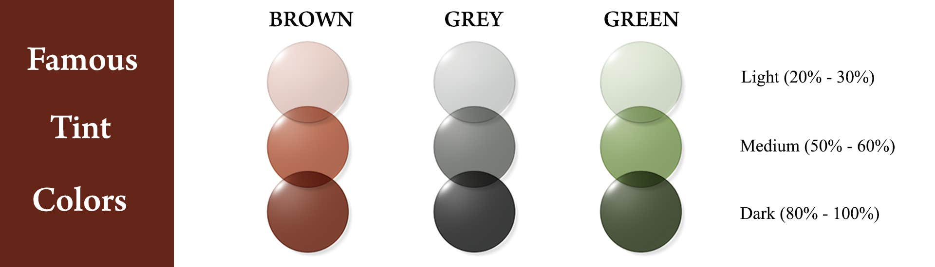 famous tint colors