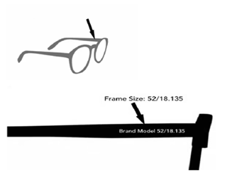 Eyeglasses Frame Numbers : Eyeglasses Size Guide