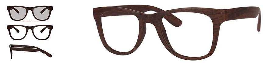 Wayfarer Eyeglasses Wooden Frame