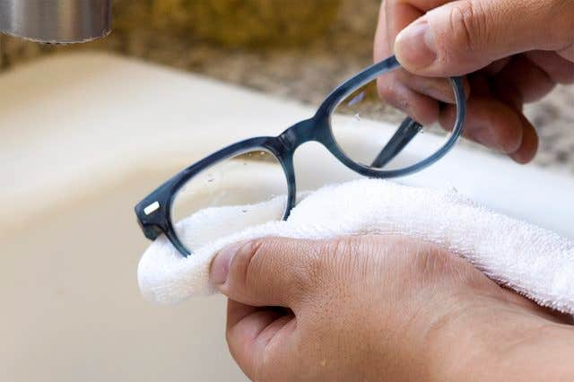 Clean your eyeglasses