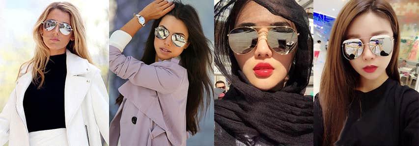 Silver Mirror Tint Sunglasses