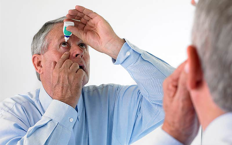 Use artificial Eye Drops for Soothing