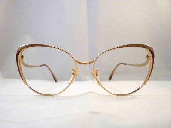 Golden Classy Eyeglasses Frame