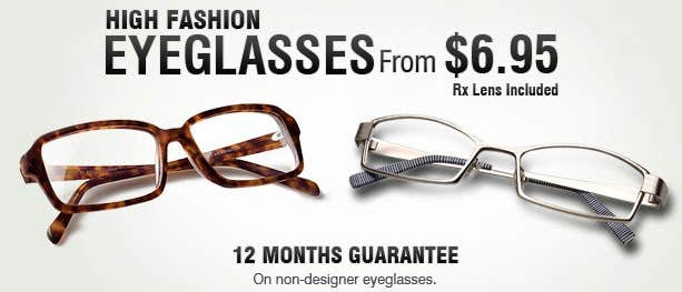 High Fashion Eyeglasses
